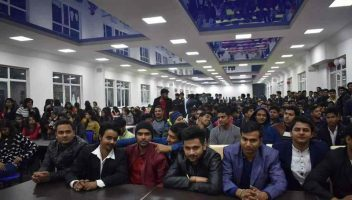 Indian students at Asian Medical Institute, Kyrgyzstan, including students sent by Global Medical Foundation.