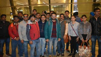Pradeep Jayaswal & Shobhit Jayaswal (middle) with a batch of students sent by Global Medical Foundation for MBBS in the Philippines.