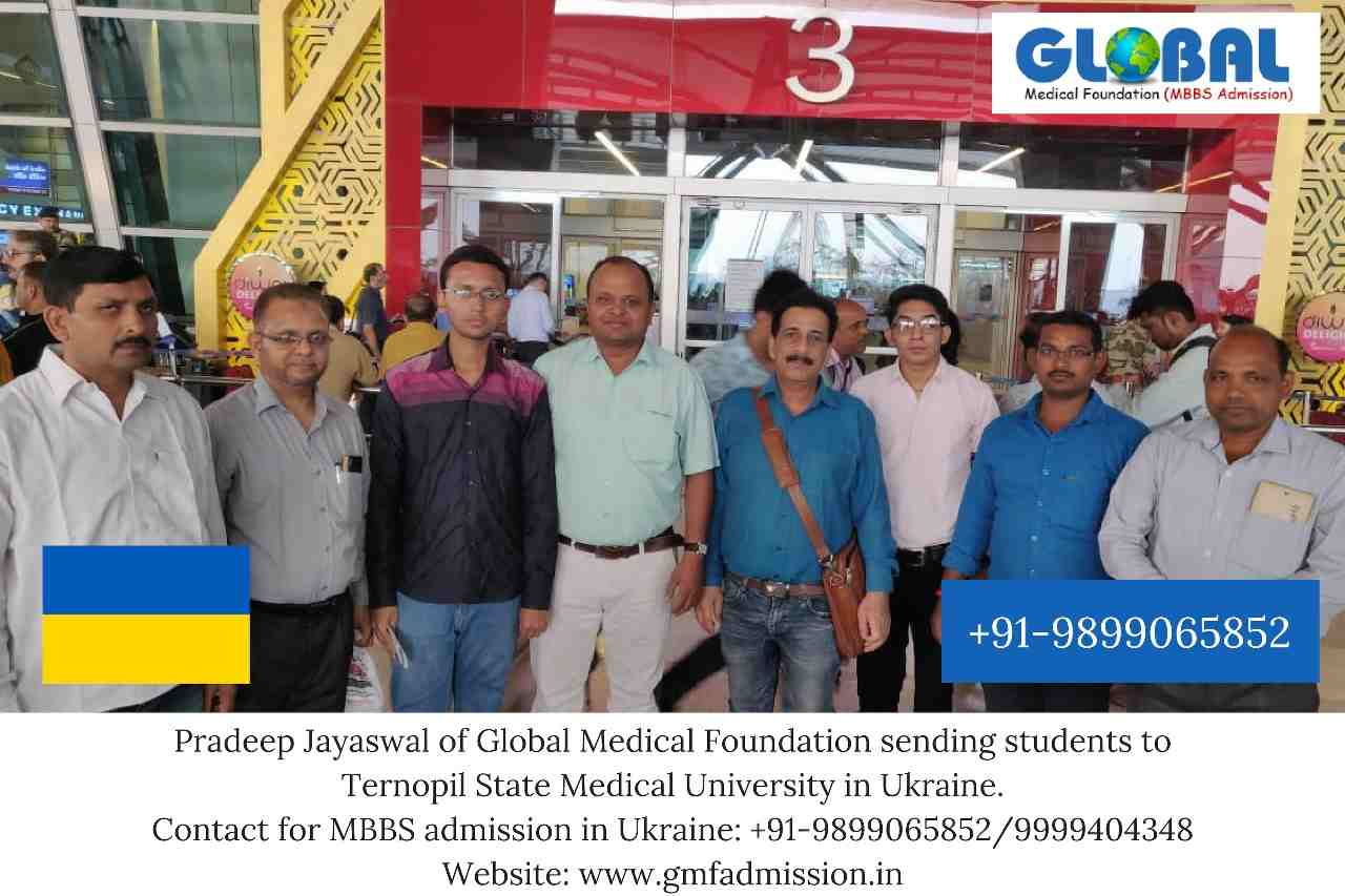 Students sent by Global Medical Foundation to Ternopil National Medical University.