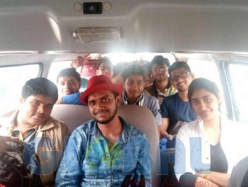 Airport pickup being provided to students sent by Global Medical Foundation in the Philippines. Shobhit Jayaswal of Global Medical Foundation went along with the students.