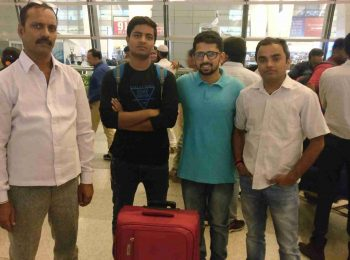 Shobhit Jayaswal (2nd from right) with a student going for V.N.Karazin Kharkiv National Medical University.
