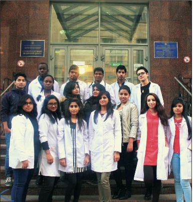 Indian students in Lviv National Medical University