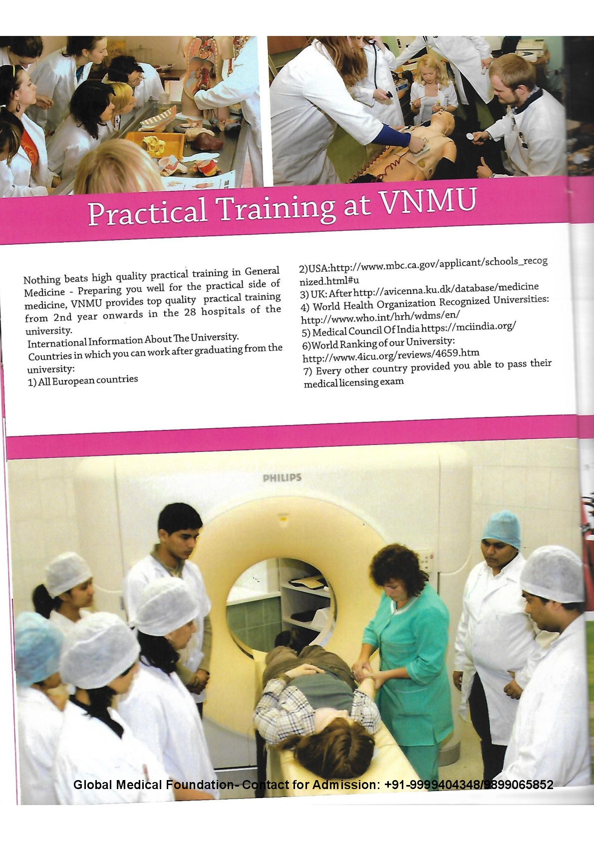 Vinnitsa National Medical University prospectus