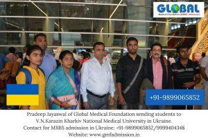 Students sent by Global Medical Foundation to V.N.Karazin Kharkiv National Medical University.