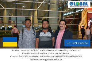 Students sent by Global Medical Foundation to Kharkiv National Medical University.