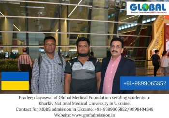 Students sent by Global Medical Foundation to Kharkiv National Medical University.