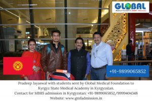 Student sent by Global Medical Foundation to Kyrgyz State Medical Academy, Kyrgyzstan.