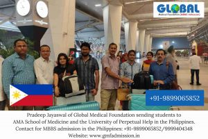 Students sent by Global Medical Foundation to AMA School of Medicine and the University of Perpetual Help.
