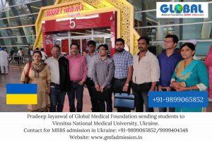 Students sent by Global Medical Foundation to Vinnitsa National Medical University.
