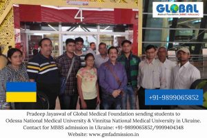 Students sent by Global Medical Foundation to Vinnitsa National Medical University & Odessa National Medical University.