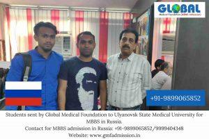 Student sent by Global Medical Foundation to Ulyanovsk State Medical University.