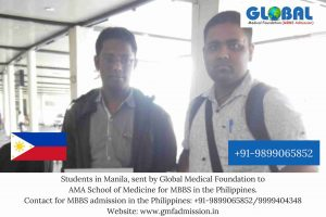 Students sent by Global Medical Foundation to AMA School of Medicine.