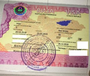Visa issued to Indian students for MBBS in Kyrgyzstan.