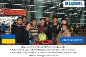 Students sent by Global Medical Foundation for MBBS in Ukraine in the following universitiy -V.N.Karazin Kharkiv National Medical University.
