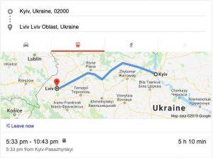 Train from Kiev to Lviv