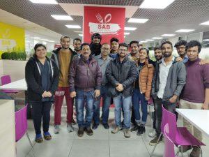 Pradeep Jayaswal & Shobhit Jayaswal with the students sent to Kharkiv National Medical University & VN Karazin Kharkiv National University by Global Medical Foundation. Photo taken at the Indian mess in Kharkiv.