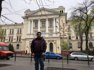 Pradeep Jayaswal at the campus of Odessa National Medical University