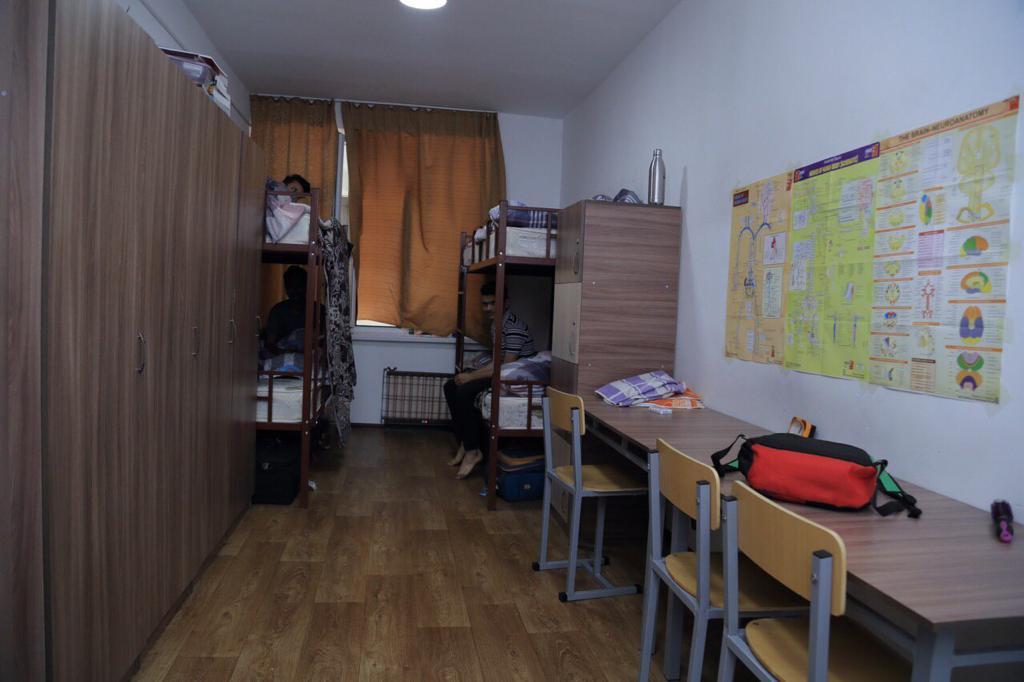 Kyrgyz State Medical Academy hostel room