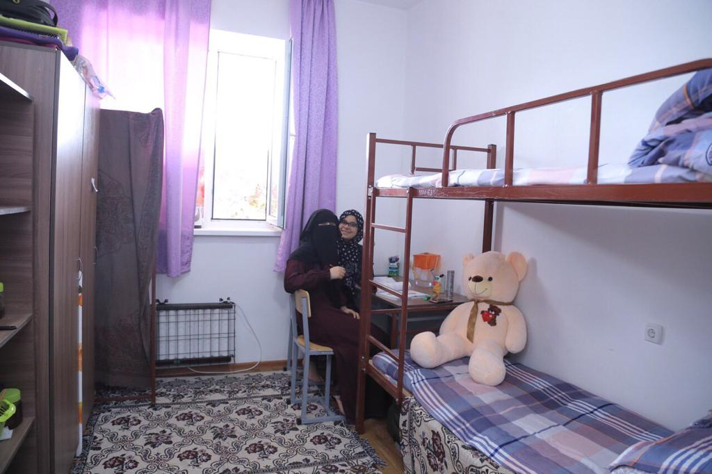 Girls hotel room at Kyrgyz State Medical Academy.