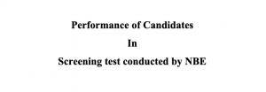 MCI screening test result