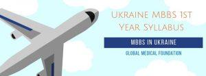 Ukraine MBBS 1st Year Syllabus
