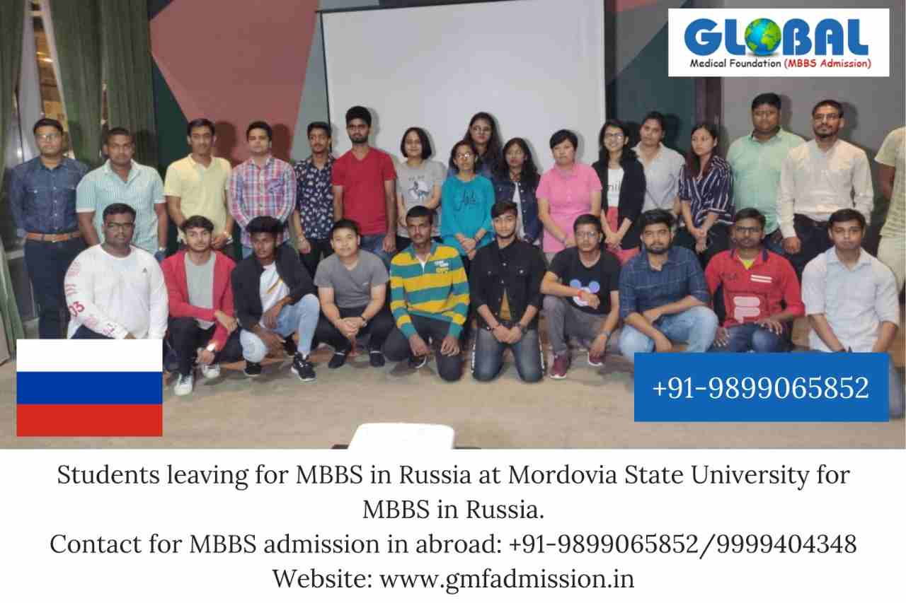 Batch leaving for Mordovia State University for MBBS in Russia