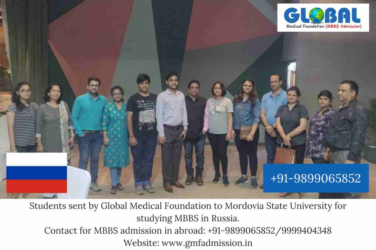 Students sent by Global Medical Foundation for MBBS in abroad