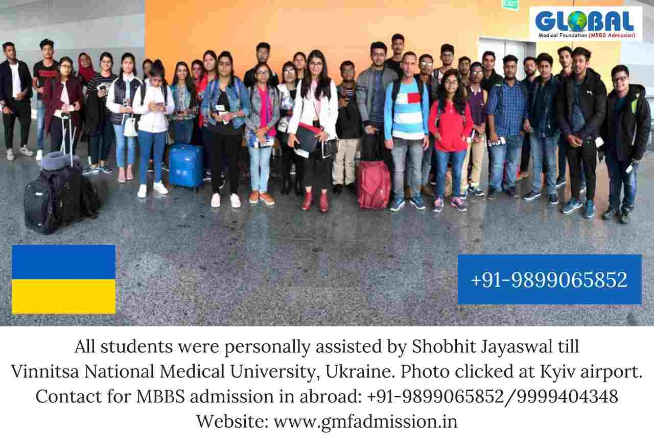 Students sent by Global Medical Foundation to Vinnitsa National Medical University