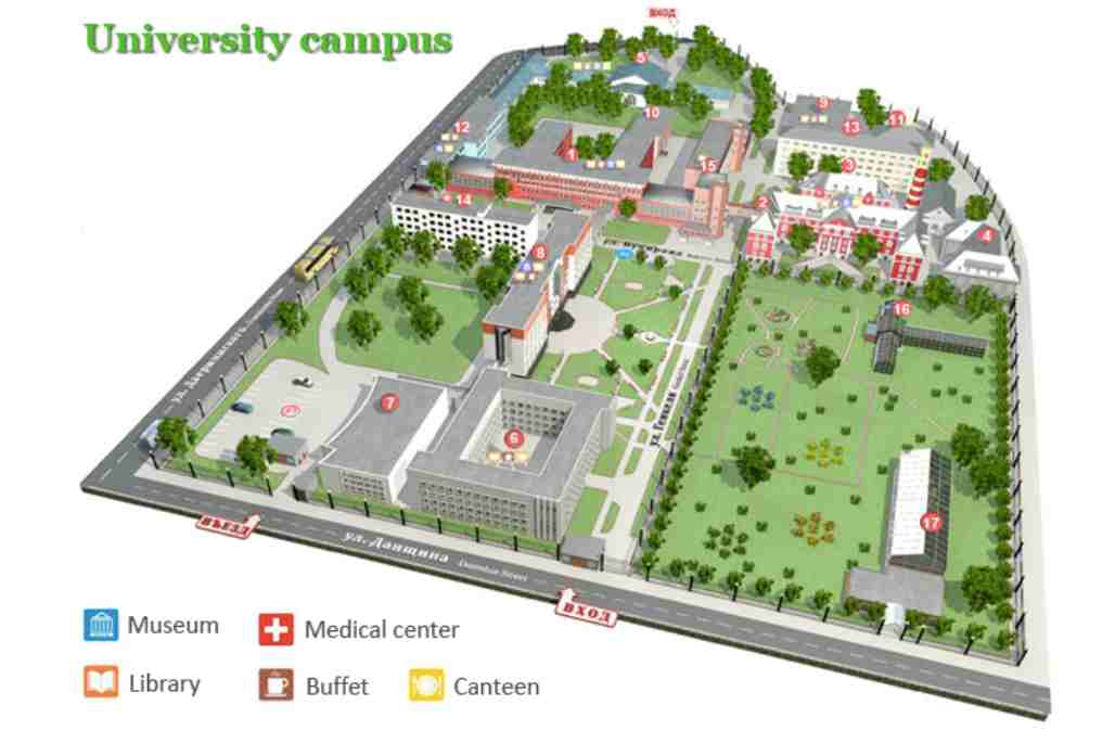 Perm State University Campus Map