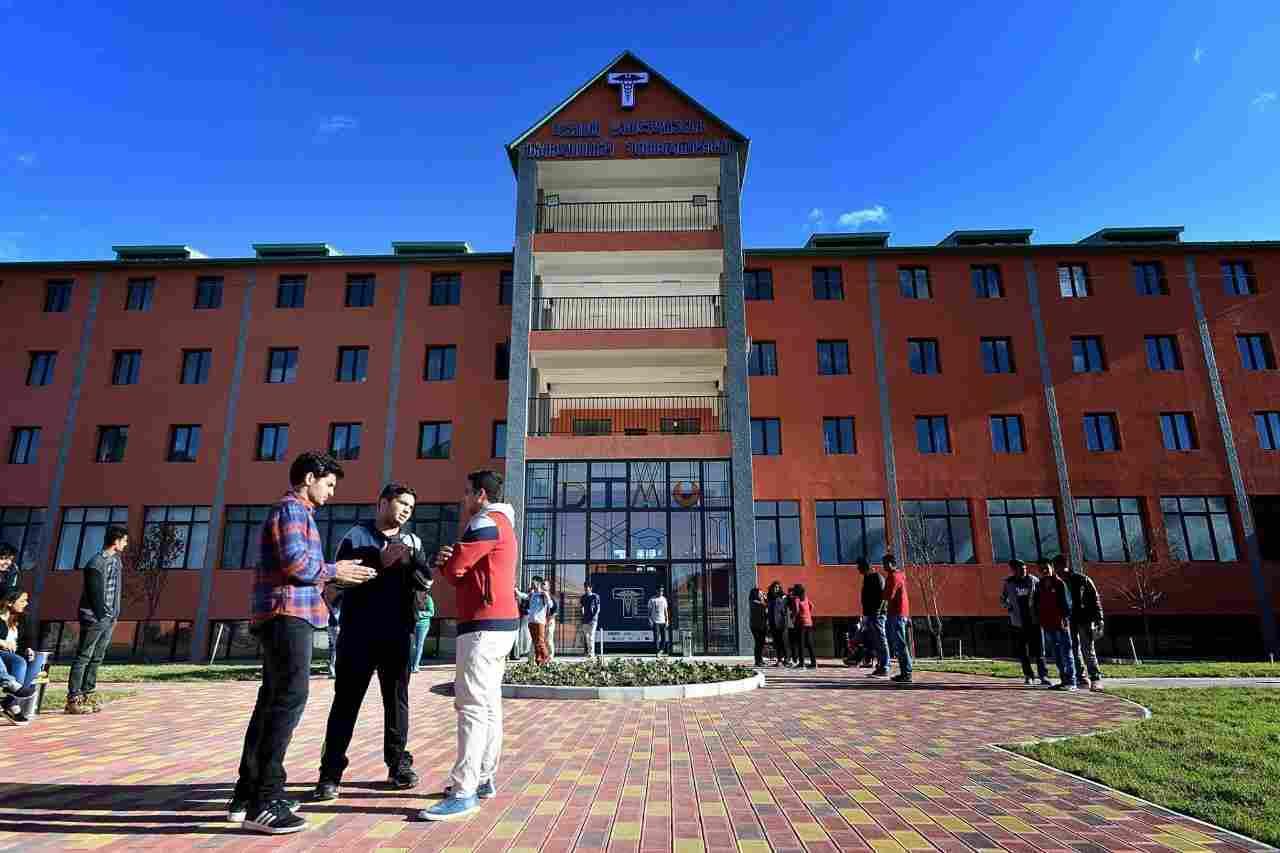 Main building of David Tvildiani Medical University in Georgia